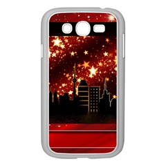 City Silhouette Christmas Star Samsung Galaxy Grand Duos I9082 Case (white) by Nexatart