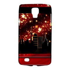 City Silhouette Christmas Star Galaxy S4 Active by Nexatart