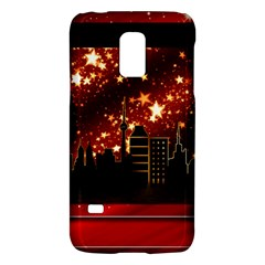 City Silhouette Christmas Star Galaxy S5 Mini by Nexatart