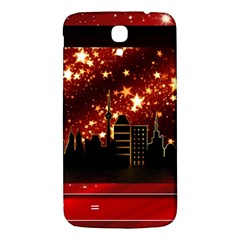 City Silhouette Christmas Star Samsung Galaxy Mega I9200 Hardshell Back Case