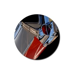 Classic Car Design Vintage Restored Rubber Coaster (round)
