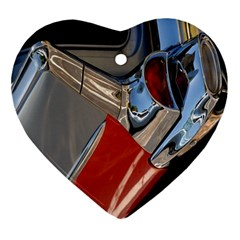 Classic Car Design Vintage Restored Heart Ornament (two Sides) by Nexatart