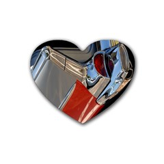 Classic Car Design Vintage Restored Heart Coaster (4 Pack)  by Nexatart