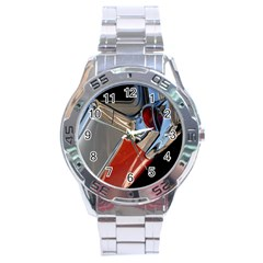 Classic Car Design Vintage Restored Stainless Steel Analogue Watch by Nexatart