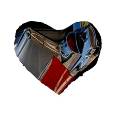 Classic Car Design Vintage Restored Standard 16  Premium Flano Heart Shape Cushions by Nexatart
