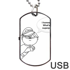 Super Dog Tag Usb Flash (two Sides) by athenastemple