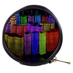 City Metropolis Sea Of Light Mini Makeup Bags by Nexatart