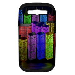 City Metropolis Sea Of Light Samsung Galaxy S Iii Hardshell Case (pc+silicone) by Nexatart