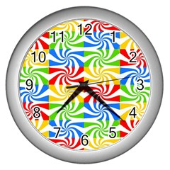 Colorful Abstract Creative Wall Clocks (silver)