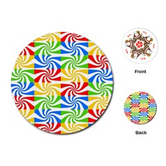 Colorful Abstract Creative Playing Cards (round)