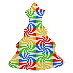 Colorful Abstract Creative Christmas Tree Ornament (two Sides)