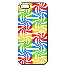 Colorful Abstract Creative Apple Iphone 5 Seamless Case (black)