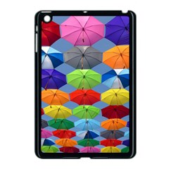 Color Umbrella Blue Sky Red Pink Grey And Green Folding Umbrella Painting Apple Ipad Mini Case (black) by Nexatart