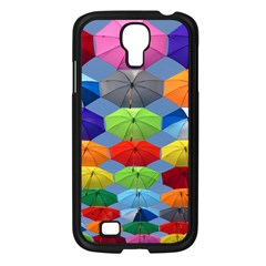 Color Umbrella Blue Sky Red Pink Grey And Green Folding Umbrella Painting Samsung Galaxy S4 I9500/ I9505 Case (black)