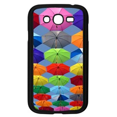 Color Umbrella Blue Sky Red Pink Grey And Green Folding Umbrella Painting Samsung Galaxy Grand Duos I9082 Case (black) by Nexatart