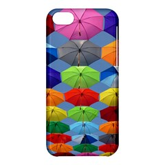 Color Umbrella Blue Sky Red Pink Grey And Green Folding Umbrella Painting Apple Iphone 5c Hardshell Case