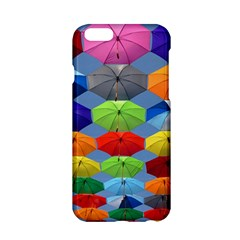 Color Umbrella Blue Sky Red Pink Grey And Green Folding Umbrella Painting Apple Iphone 6/6s Hardshell Case