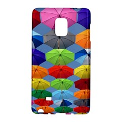 Color Umbrella Blue Sky Red Pink Grey And Green Folding Umbrella Painting Galaxy Note Edge
