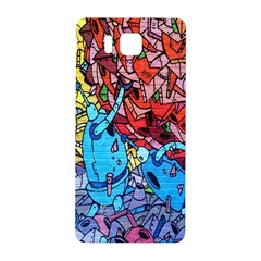 Colorful Graffiti Art Samsung Galaxy Alpha Hardshell Back Case by Nexatart