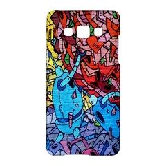 Colorful Graffiti Art Samsung Galaxy A5 Hardshell Case  by Nexatart