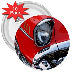 Classic Car Red Automobiles 3  Buttons (10 Pack)  by Nexatart