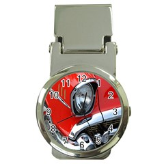 Classic Car Red Automobiles Money Clip Watches by Nexatart