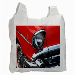 Classic Car Red Automobiles Recycle Bag (one Side) by Nexatart