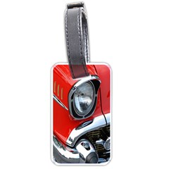 Classic Car Red Automobiles Luggage Tags (one Side)