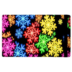 Colourful Snowflake Wallpaper Pattern Apple Ipad 3/4 Flip Case by Nexatart