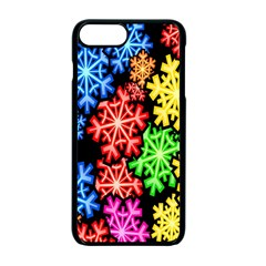 Colourful Snowflake Wallpaper Pattern Apple Iphone 7 Plus Seamless Case (black) by Nexatart