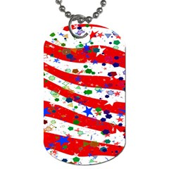 Confetti Star Parade Usa Lines Dog Tag (two Sides) by Nexatart