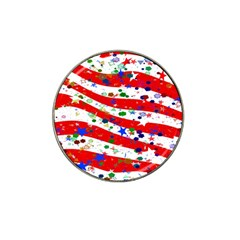 Confetti Star Parade Usa Lines Hat Clip Ball Marker by Nexatart