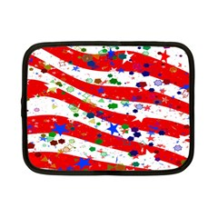 Confetti Star Parade Usa Lines Netbook Case (small)  by Nexatart