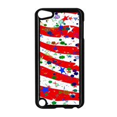 Confetti Star Parade Usa Lines Apple Ipod Touch 5 Case (black) by Nexatart