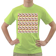Construction Pattern Background Green T Shirt by Nexatart