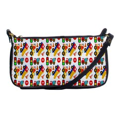 Construction Pattern Background Shoulder Clutch Bags by Nexatart