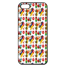 Construction Pattern Background Apple Iphone 5 Seamless Case (black)