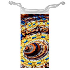 Complex Fractal Chaos Grid Clock Jewelry Bag by Nexatart
