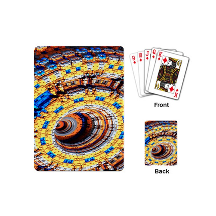Complex Fractal Chaos Grid Clock Playing Cards (Mini)