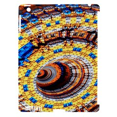 Complex Fractal Chaos Grid Clock Apple Ipad 3/4 Hardshell Case (compatible With Smart Cover)