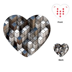 Cube Design Background Modern Playing Cards (heart)  by Nexatart