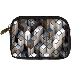 Cube Design Background Modern Digital Camera Cases