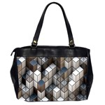 Cube Design Background Modern Office Handbags (2 Sides)  Back