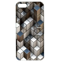 Cube Design Background Modern Apple Iphone 5 Hardshell Case With Stand by Nexatart