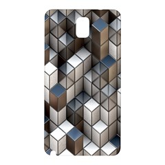 Cube Design Background Modern Samsung Galaxy Note 3 N9005 Hardshell Back Case by Nexatart