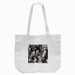 Cube Design Background Modern Tote Bag (white) by Nexatart