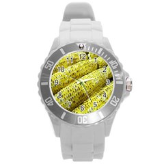 Corn Grilled Corn Cob Maize Cob Round Plastic Sport Watch (l) by Nexatart