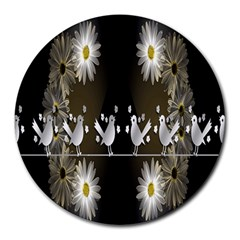 Daisy Bird  Round Mousepads by Nexatart