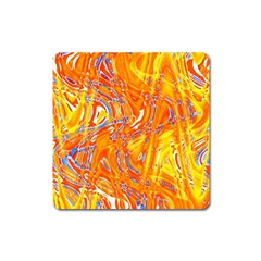 Crazy Patterns In Yellow Square Magnet