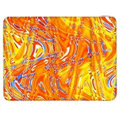 Crazy Patterns In Yellow Samsung Galaxy Tab 7  P1000 Flip Case by Nexatart